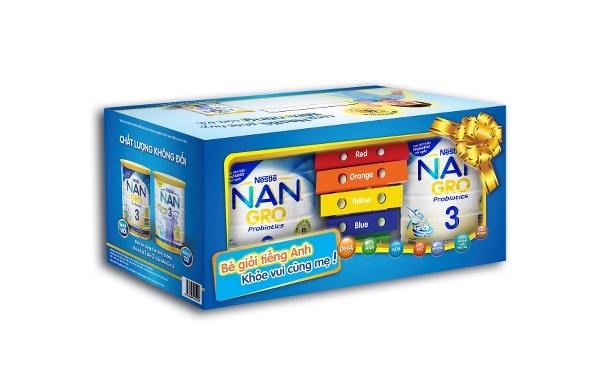 Mua Nan Gro 3 tặng đàn đồ chơi