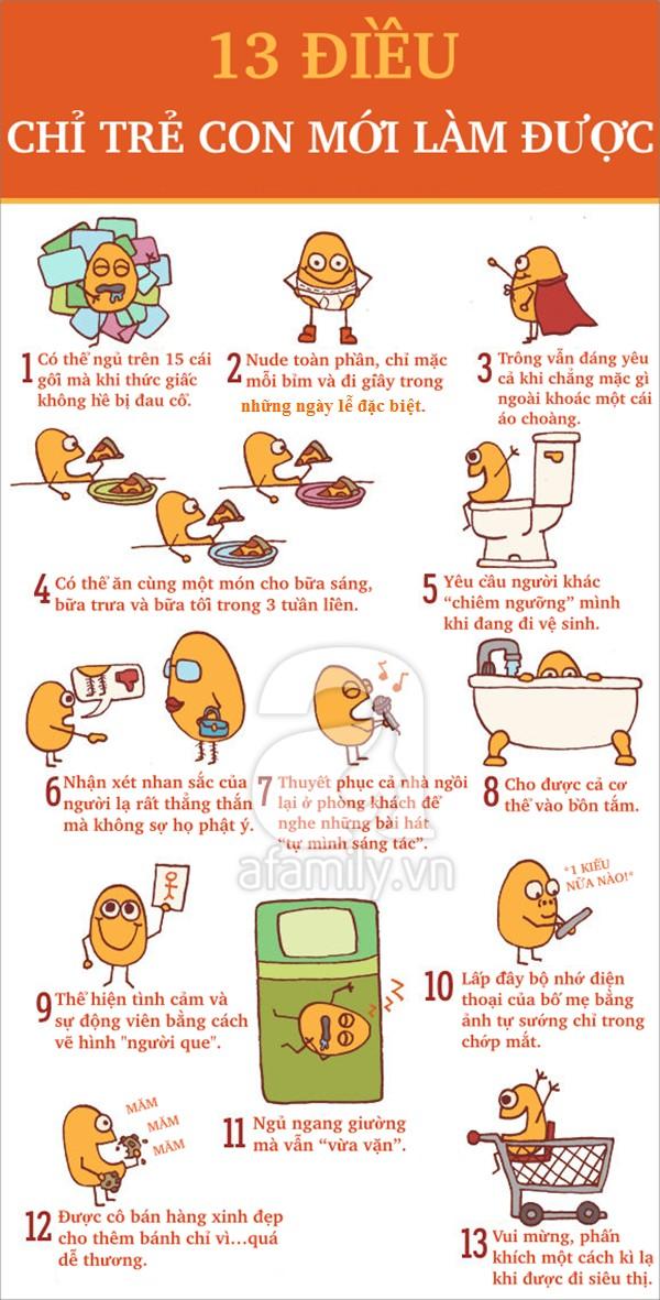 13 điều mà người lớn cũng phải bái phục trẻ con