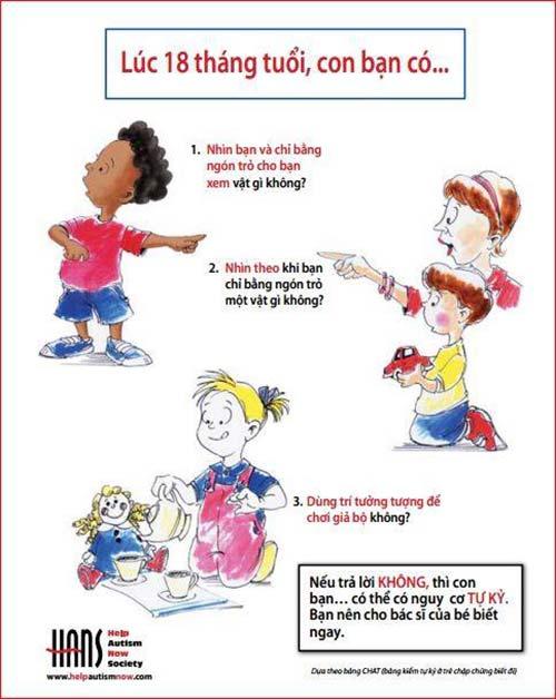 Những dấu hiệu bé có nguy cơ bị tự kỷ (2)