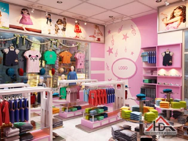Hướng dẫn trang trí cửa hàng quần áo thời trang trẻ em ấn tượng