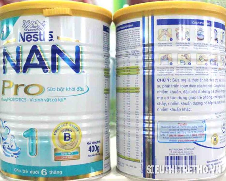 Sữa bột Nestle Nan 1 Pro 400g
