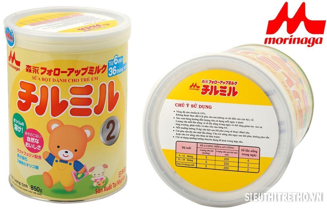 Sữa Morinaga - Chilmil số 2 cho bé 6 - 36 tháng - 850g