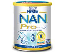 Sữa bột Nestle Nan Nga Pro số 3 900g cho trẻ 1-3 tuổi giá rẻ