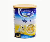 Sữa bột Dielac alpha  Step 1 HT 900g của thương hiệu Vinamilk
