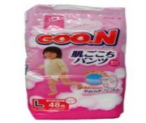 Bỉm quần Goon nội địa gái L42/48 cho bé gái 9-14 kg