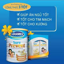 Sữa bột Vinamilk Sure Prevent HT 900g