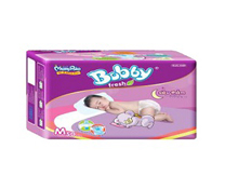 Bỉm dán Bobby Fresh Jumbo size M 50 miếng cho bé 6-10kg giá rẻ