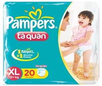 Bỉm quần Pampers size XL-20 miếng cho bé trên 13kg chính hãng
