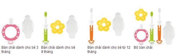 bộ sản phẩm chải răng 3 bước Richell