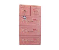Tủ nhựa Tabi Duy Tân màu hồng 4 tầng cho bé gái