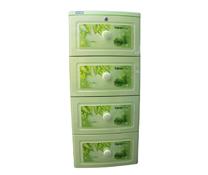 Tủ nhựa Tano Duy Tân 4 tầng xanh lá, tủ nhựa đựng đồ cho bé