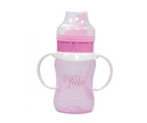 Cốc tập uống Born Free 210ml màu hồng