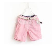 Quần kaki hồng kèm dây đai BT cho bé gái