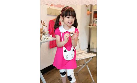 Bộ áo hồng mèo quần legging