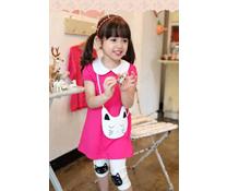 Bộ áo hồng quần legging in hình chú mèo