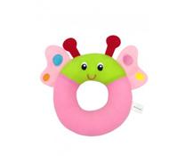 Đồ chơi bông mềm hình vòng ốc sên hồng