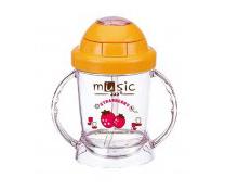 Cốc tập uống Music cho bé nắp bật mở dễ dàng