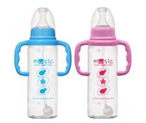 Bình sữa nhựa tay cầm ống hút tự động 240ml
