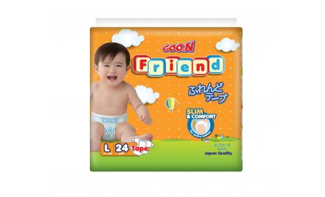 Bỉm dán GOON FRIEND size L - 24 miếng (cho bé 8 - 13kg)