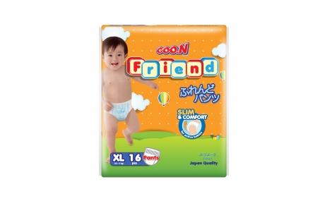 Tã quần GOON FRIEND size XL - 16 miếng (cho bé 12 - 17kg)