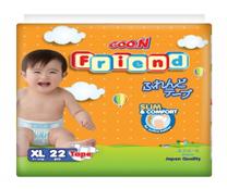 Bỉm dán GOO.N FRIEND size XL-22 miếng cho bé 11-16kg siêu rẻ siêu tốt