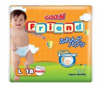 Bỉm quần GOON FRIEND size L - 18 miếng (cho bé 9 - 14kg) giá mềm