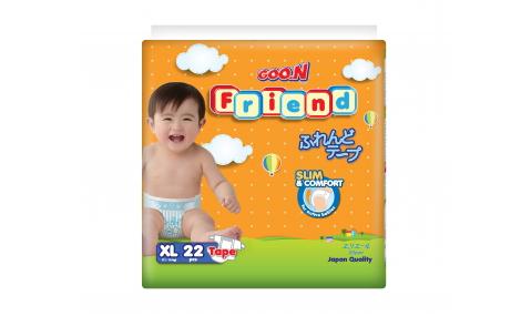 Bỉm dán GOO.N FRIEND size XL - 22 miếng (cho bé 11 - 16kg)