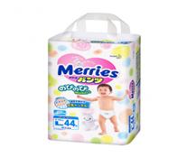 Bỉm quần Merries size L-44 miếng cho bé 9 - 14kg giá rẻ