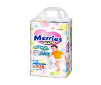 Bỉm quần Merries size XL-38 miếng siêu thấm hút cho bé 12-22kg