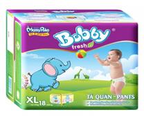 Bỉm quần Bobby Pants size XL-18 miếng cho bé 12-17kg siêu thấm hút