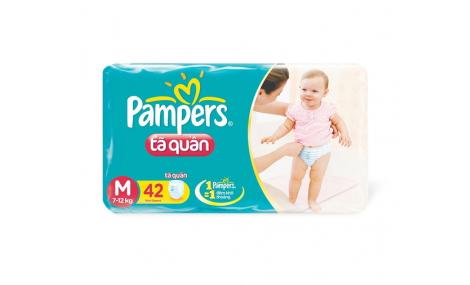 Bỉm quần Pampers size M - 42 miếng (cho bé 6 - 11kg)
