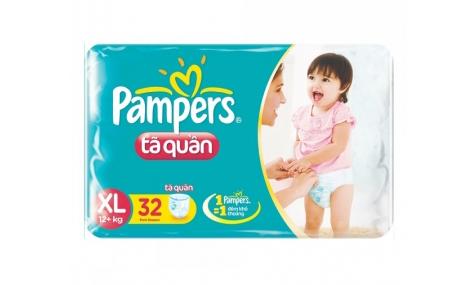 Bỉm quần Pampers size XL - 32 miếng (cho bé trên 13kg)