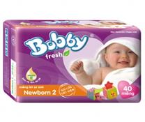 Bỉm Bobby Fresh Newborn 2 gói lớn 40 miếng cho bé 1-3 tháng