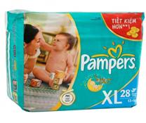 Bỉm dán Pampers size XL-28 miếng, bỉm đi chơi cho bé trên 13kg