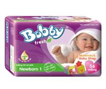 Bỉm Bobby Fresh Newborn 1 - 56 miếng cho bé dưới 1 tháng tuổi