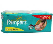 Bỉm quần Pampers size S-20 miếng, bỉm hàng đầu cho bé 3-8kg