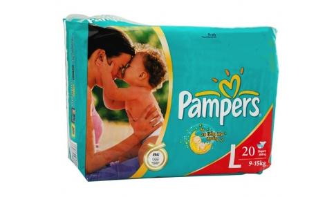 Bỉm quần Pampers size L - 20 miếng (cho bé 9 - 15kg)