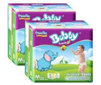 Bỉm quần Bobby Pants size M -22 miếng cho bé 6-10kg chất lượng
