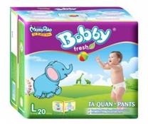 Bỉm quần Bobby Pants size L-20 miếng cho bé 9-13 kg giá rẻ bất ngờ