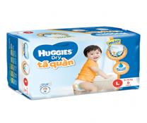 Bỉm quần Huggies Dry Pants Regular size L-9 miếng cho bs 8-13kg siêu thoáng
