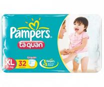 Bỉm quần Pampers size XL-32 miếng, bỉm thân thiện cho bé trên 13kg