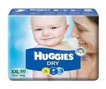 Bỉm dán Huggies Dry Jumbo size XXL-30 miếng cho bé trên 14kg