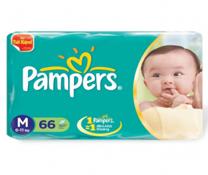 Bỉm dán Pampers Jumbo size M-66 miếng, bỉm đêm cho bé 6-11kg