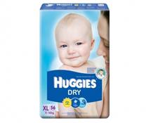 Bỉm dán Huggies Dry size XL-56 miếng cho bé 11-16kg siêu rẻ