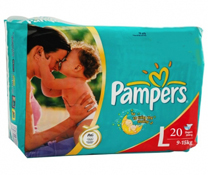 Bỉm quần Pampers size L - 20 miếng cho bé 9 - 15kg