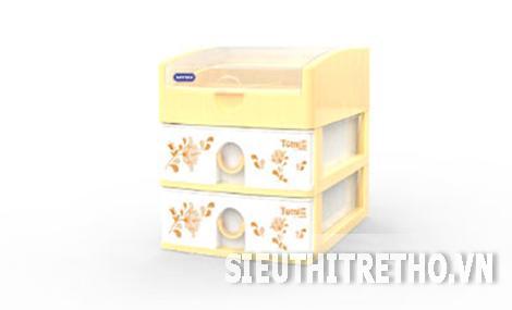 Tủ nhựa Duy Tân Tomi màu vàng 3 tầng