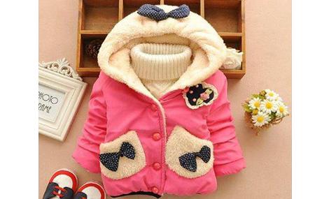 Áo khoác nơ hai túi màu hồng xinh xắn