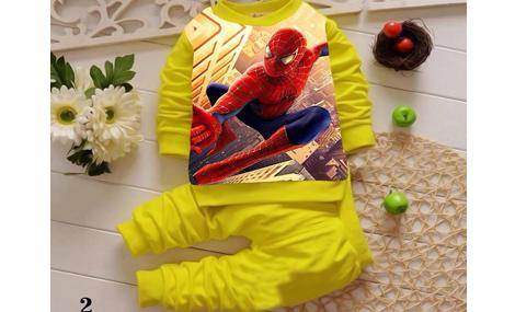 Bộ siêu nhân bé trai màu vàng