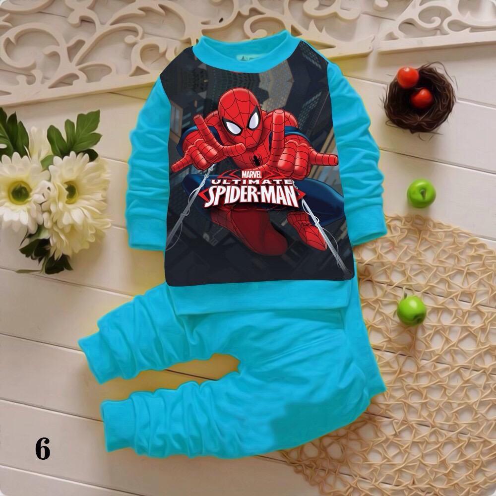 Bộ siêu nhân bé trai màu xanh