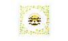Khăn tắm hình vuông con ong